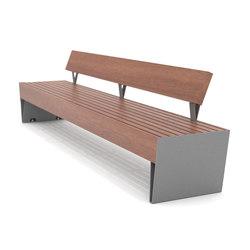 blocq Parkbank mit Rückenlehne | Außenbänke | mmcité