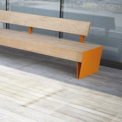 blocq | Park bench with backrest | Panche da esterno | mmcité