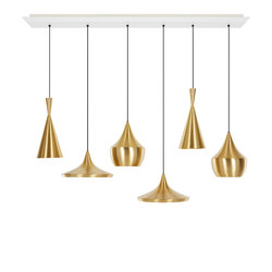 Beat Brass Linear Pendant System | General lighting | Tom Dixon