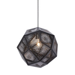 Etch Pendant Black | Suspensions | Tom Dixon