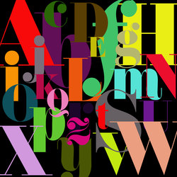 Interaction | Alphabet | Bespoke wall coverings | Mr Perswall