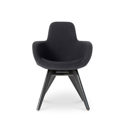 Scoop Chair High Back Black Leg Tonus 4 | Visitors chairs / Side chairs | Tom Dixon