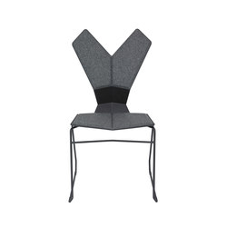 Y Chair Sled Black Shell Black Base | Sedie multiuso | Tom Dixon