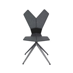 Y Chair Swivel Black Shell Black Base | Sedie ristorante | Tom Dixon