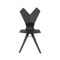 Y Chair Black Shell Black Oak Base | Chaises de restaurant | Tom Dixon