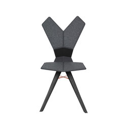 Y Chair Black Shell Black Oak Base | Sedie ristorante | Tom Dixon