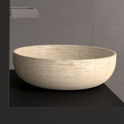 Travertino Rapolano 45 | Wash basins | Glass Design