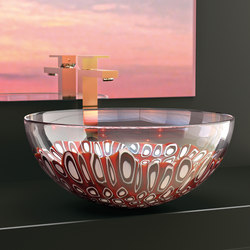 Laguna Rossa | Wash basins | Glass Design