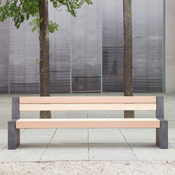 Versio genus bench with slats MEDIUM and concrete feet graphit | Exterior benches | Westeifel Werke
