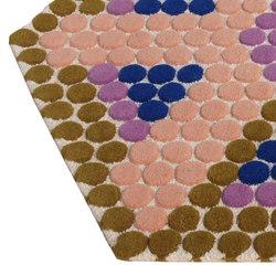 Bubbles Hexagon | Rugs | Nuzrat Carpet Emporium