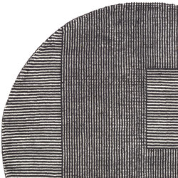 Stripe Rug Round Black and White | Rugs | Tom Dixon