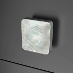 Perla Quadro | Cabinet knobs | Glass Design