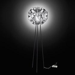 Flora Silver floor | Free-standing lights | Slamp