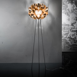 Flora Copper floor | Free-standing lights | Slamp