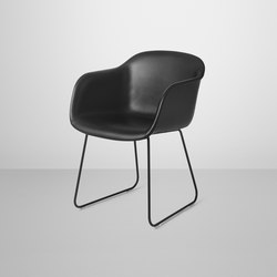 Fiber Armchair | sled base leather | Sedie visitatori | Muuto