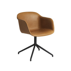 Fiber Armchair | swivel base leather | Sedie visitatori | Muuto