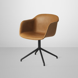 Fiber Armchair | swivel base leather | Visitors chairs / Side chairs | Muuto