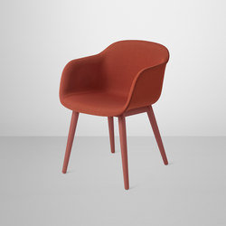 Fiber Armchair | wood base upholstered | Visitors chairs / Side chairs | Muuto