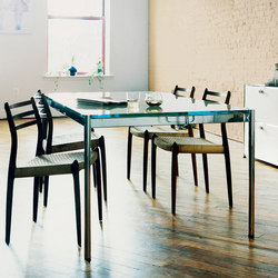 USM Haller Table | Transparent Glass | Mesas comedor | USM