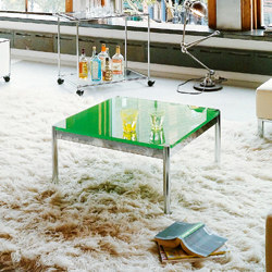 USM Haller Low Table | USM Green Glass | Tavolini bassi | USM