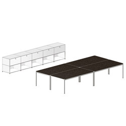USM Haller Shared workstation 3 | Systèmes de tables de bureau | USM