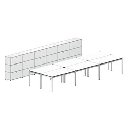 USM Haller Shared workstation 7 | Desks | USM