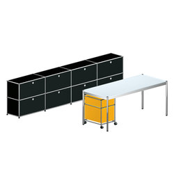 USM Haller Executive workstation 1 | Caissons | USM