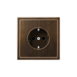 LS 990 brass antique socket | Schuko sockets | JUNG