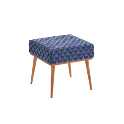 Detroit Stool Blue 3 | Polsterhocker | GAN