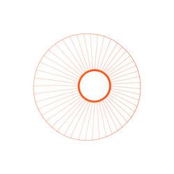Primp Mirror Orange | Miroirs muraux | GAN