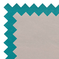 Zig Zag Rug Turquoise/Beige 3 | Tappeti / Tappeti d'autore | GAN