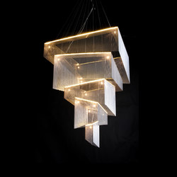 Geometric Storm | Ceiling suspended chandeliers | Willowlamp