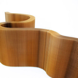 softwall | natural brown paper | Space dividers | molo