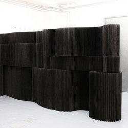 softblock | black textile | Space dividers | molo