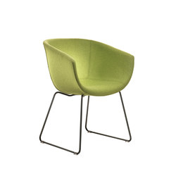 Derby | Sled base, upholstered | Visitors chairs / Side chairs | Segis