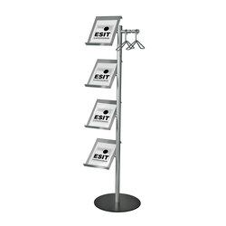 1815L Brochure holder and coat stand | Appendiabiti da terra | ESIT