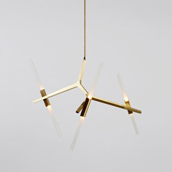 Agnes Chandelier - 6 Lights  (Brass) | Suspended lights | Roll & Hill