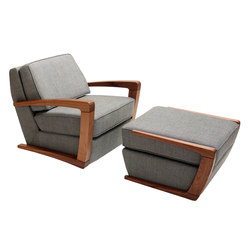 Kustom Armchair and Footstool | Loungesessel | Bark