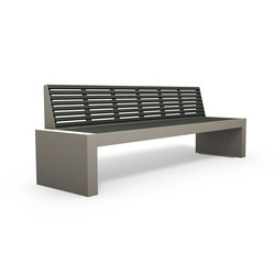 Comfony 40 bench without armrests 2500 | Exterior benches | BENKERT-BAENKE