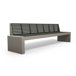 Comfony 40 bench without armrests 3000 | Exterior benches | BENKERT-BAENKE