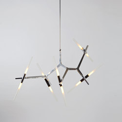 Agnes chandelier 10 lights aluminium | General lighting | Roll & Hill
