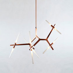 Agnes chandelier 10 lights copper | Suspended lights | Roll & Hill