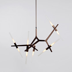 Agnes chandelier 10 lights bronze | Illuminazione generale | Roll & Hill