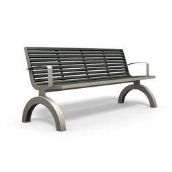 Comfony 140 bench with armrests | Bancs publics | BENKERT-BAENKE