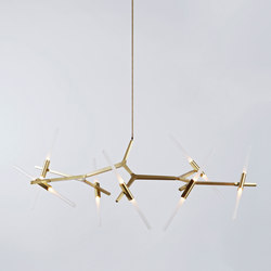 Agnes chandelier 14 lights brass | General lighting | Roll & Hill