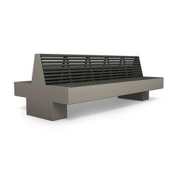 Comfony 800 double bench 2410 | Exterior benches | BENKERT-BAENKE