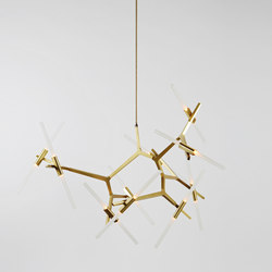 Agnes chandelier 20 lights brass | Suspended lights | Roll & Hill