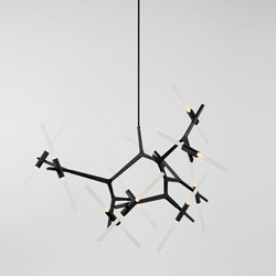 Agnes chandelier 20 lights black | Suspended lights | Roll & Hill
