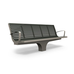 Comfony S20 bench with armrests | Exterior benches | BENKERT-BAENKE