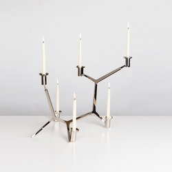 Agnes candelabra table 6 candles nickel | Candelabros | Roll & Hill